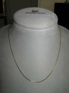ULTRA-FINE VERY DAINTY ROLLED VINTAGE GOLDTONE 18-INCH CHAIN