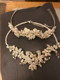 tiara and necklace