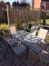 Garden Glass Table with 6 Chairs