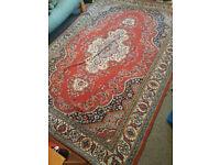 Vintage handmade oriental rug extra large