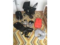 Bugaboo Pram, Maxi Cosi Car Seat, Baby Bjorn Carrier, Nursing Cushion REDUCED TO £300 FOR THE LOT