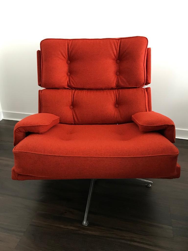 Vintage retro mid century modern howard keith hk kohinoor swivel armchair