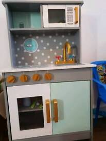 Solid wood play kitchen