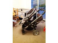 i candy Peach 1 black Jack. Comes with pram, seat and double.