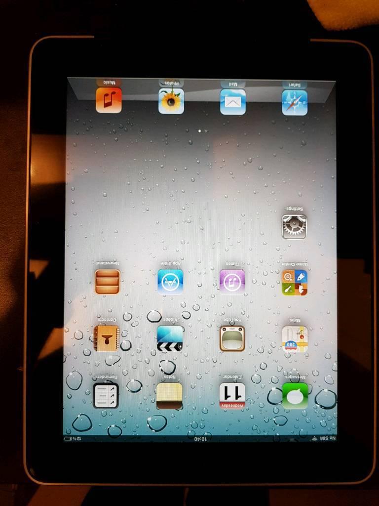 Ipad 1st Generation silver 16GB Wi-Fi and sim