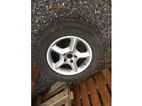 BMW X5 alloy wheel and tyre-one only