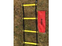 Mitre 4m (10 Rung) speed ladder with red draw string storage bag.