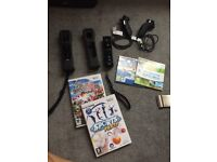 Wii plus games and controllers