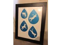 Hello Dodo Print - Raining Cats and Dogs
