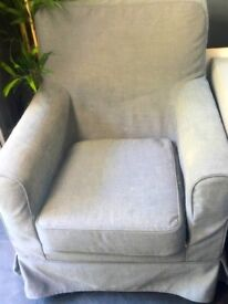 Small IKEA chair with removable cover