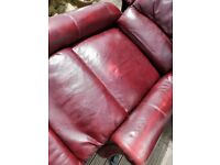 Leather riser recliner chair