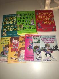 Horrid Henry books x9
