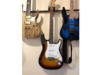 Squier (by Fender) Affinity Series Stratocaster Tobacco finish 21 fret Electric Guitar