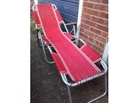 Vintage retro sun lounger recliner