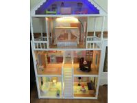 KidKraft large wooden dolls house & furniture