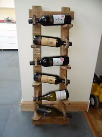 Hand Made Rustic Wine Rack