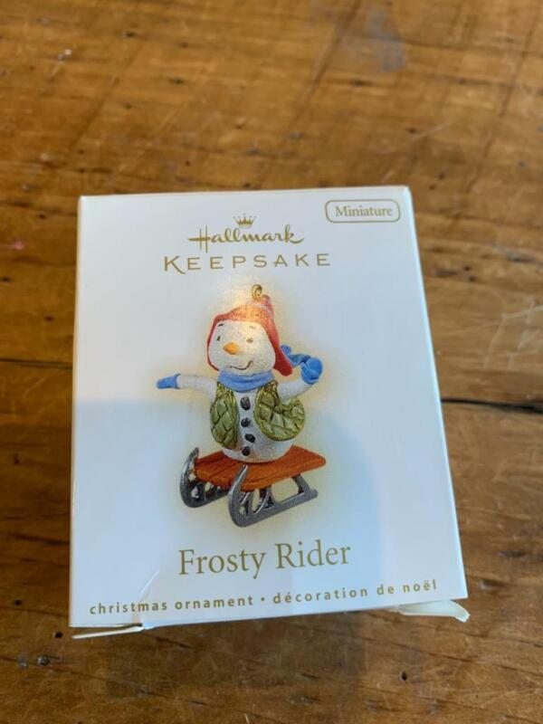 Hallmark Keepsake Ornament Miniature 2009 Frosty Rider Snowman Riding Sled