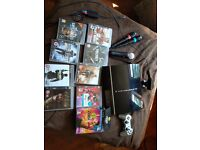 PS3 , Camera, move controller, control pad, singstar microphones and 9 games