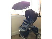 Stokke Xplory pram and pushchair with extras - Navy blue