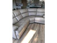 Brand New Beige Leather Corner Sofa