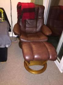 Leather TV chair