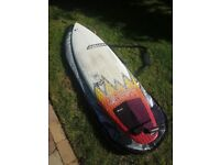 Adams CAPTAIN CAVEMAN 6'3 surfboard with fins (optional board bag and leash)
