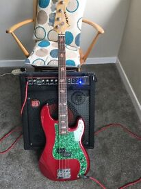 Aria Bass Guitar and Amp for Sale