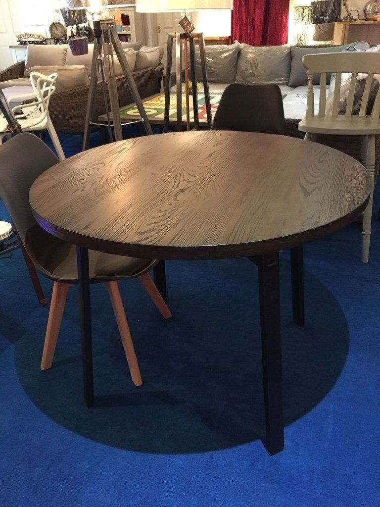 online store fccd6 69569 John Lewis Calia Round 6 Seater Dining Table, Dark RRP £499 | in  Haslingden, Lancashire | Gumtree