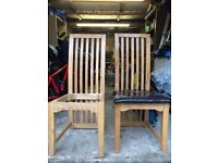 FREE 6 solid wood dining chairs