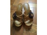 Boutique wedged sandals