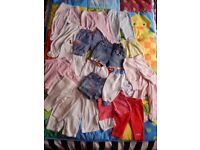 Baby girl newborn up to 3 months bundle of 21 bottoms (leggings,jeans,shorts) 0-3
