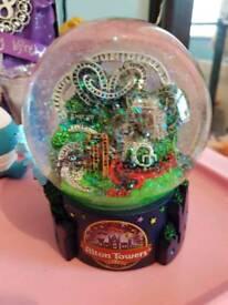 Alton towers snow globe