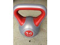York fitness vinyl 14kg kettlebell weight