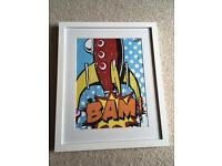 Bam Painting and Frame