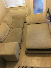SET Cream Sofa Chaise Made in Italy