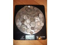 Scrap SILVER Coins. Approx 15oz (468g). Selling as a lot.