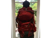 Osprey Ariel 65 litre rucksack / backpack with raincover