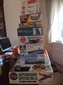 many airfix models and others