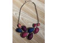 Multicoloured statement necklace
