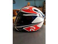 brand ew hjc rpha10 plus zappy race helmet.unworn,boxed with 3 new visors+reciept