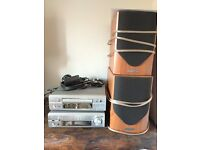 DENNON mini stack Hi-Fi system with MISSION speakers