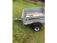 ERDE 102 GALVANISED METAL 4ft x 3ft TRAILER - WITH COVER & SPARE WHEEL