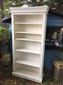 Solid wood book case shabby chic