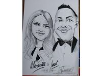 Caricaturist for hire for weddings, parties, festival and corporate events