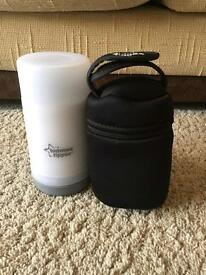 Tommee Tippee bottle warmer and insulated bottle carrier