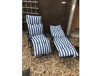 2 x recliner sun beds