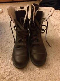 Brown leather DM doc Marten boots Uk 6