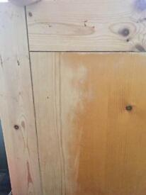 Large pine dining table *needs tlc*