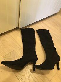 LK Bennett knee high leather boots eu 40/uk7 lightly used