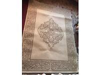Chalet rug beige brown colour size 170x120cm ex condition £15